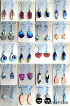 New handmade polymer clay earrings by manning clay. Available on Etsy https://www.etsy.com/au/shop/ManningPolymerClay