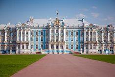 Catherine Palace - Tsarskoe Selo (Pushkin), near St. Petersburg, Russia #St.Petersburgrussia