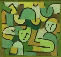 "Paul Klee, ""Women Harvesting"", pastel on canvas on burlap, 1937. The Art Institute of Chicago."