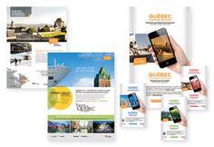Déclinaison d'annonces (journaux et magazines) / Client - Office du tourisme de Québec / Infographiste pigiste pour - Hop comportement de marque