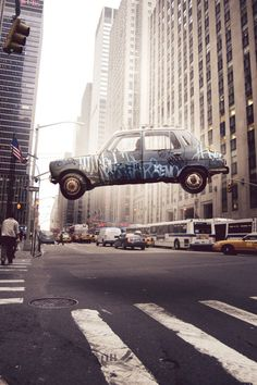 the car is in midair!
