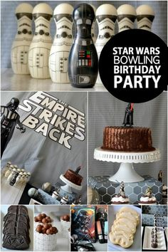 Boy's Star Wars Bowling Birthday Party Ideas