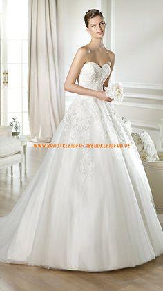 A-linie Schön Preiswerte Brautkleider 2014 aus Organza mit Applikation
