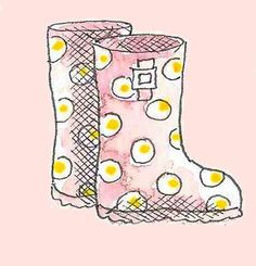 Spotty wellies by flapdoodledesigns  www.flapdoodledeisngclub.com