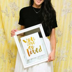 "Inspirational Gold Foil Wall Art - ""You Are So Loved"" - Wall Decor Ideas"