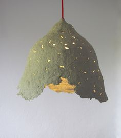 Maria Fiter, recycled paper mache lamp, photo Maria Fiter, part of the Rehogar Exhibition in Valencia, 2013