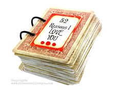 """52 Reasons I Love You"" Cards Tutorial"