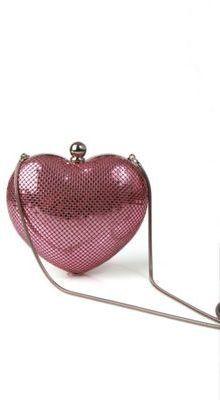 Whiting & Davis Heart Evening Bag