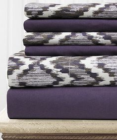 Look what I found on #zulily! Geometric Texture Sheet Set by Colonial Home Textiles #zulilyfinds