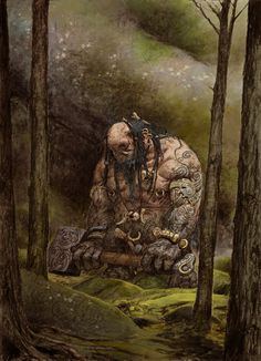 Troll: art for Blood Rage, CoolMiniOrNot's upcoming board game.