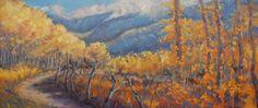San Juan Mountain Gold by Gina Grundemann, Landscape Painter