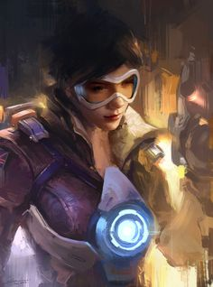 Overwatch Tracer Fan Art.  Although I didn't get a chance to play it, but I still very like it. The design and setting of characters were really awesome.