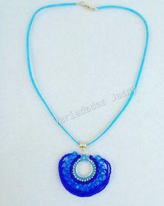 """f9a7fe523b42 Variedades Jasny on Instagram  """" collar  cuero  azul  moda  belleza   accesorios  bisuteria  joyas  hechoamano  queregalar. Envío a toda Colombia.  Escriba a…"""