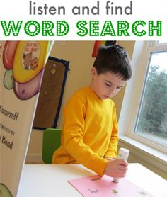 listen and find word search activity- when reading aloud have the kids play bingo while listening and mark the words they hear! Reading Games, Reading Activities, Literacy Activities, Educational Activities, Kindergarten Reading, Reading Bingo, Reading Tips, Summer Activities, Learning Through Play