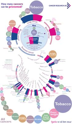 This graphic shows the proportion of cancers that can be prevented through lifestyle changes