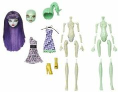 Monster High Create-A-Monster Mummy-Gorgon Girl Starter Set by Mattel. $27.95. Kids will enjoy creating their own monsters again and again. The pieces can be assembled in more than 250 ways. All the body parts and fashions needed to create your own unique scary cool ghoul. Now kids can build their own Monster High doll. Kit includes 2 torsos, 2 sets of limbs, 2 heads, 1 hairpiece, 2 fashions and a unique add-on accessory. From the Manufacturer                Monster Hig...