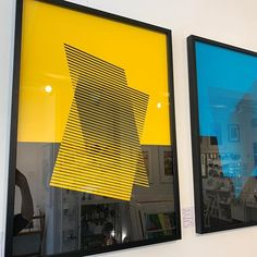 ⚡️NEW IN⚡️looking bold and beautiful on the wall - @yannbrien geometric screenprints. (L-R: 'Steady, Steady' and 'Rise', editions of 10 on…