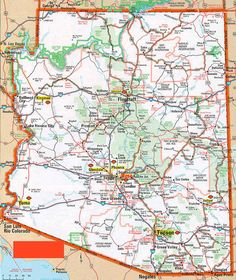 Map Of Arizona Cities Homeschooling Pinterest City Tucson - Map of arizona counties and cities