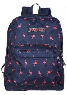 Jansport Superbreak Flamingo Backpack - Bags - Accessories - dELiA*s Mochila Jansport, Sac Jansport, Cute Backpacks, Girl Backpacks, School Backpacks, Rucksack Bag, Messenger Bag, Look Girl, Backpack Brands
