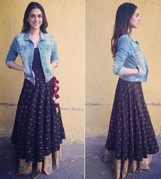 Ideas Skirt Outfits Indian Boho Style For 2019 Casual Indian Fashion, Ethnic Fashion, Boho Fashion, Indian Fashion Trends, Fashion Kids, Fashion 2017, Indian Skirt, Indian Dresses, Indian Outfits