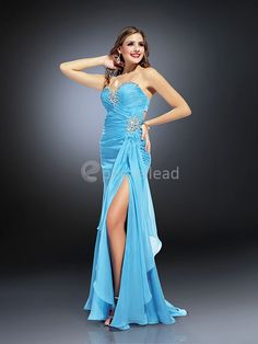 Fantastic Sheath/ Column Chiffon Elastic Woven Satin Pageant DressesWholesale Price: US$104.99