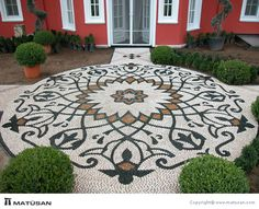 Who Knew Home Landscaping for Energy Conservation Had This Effect? Pebble Mosaic, Stone Mosaic, Pebble Art, Mosaic Tiles, Pebble Garden, Mosaic Garden, Garden Art, Garden Design, Stone Path
