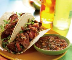 MONDAY: Sirloin Tacos Recipe (cook an extra pound of meat to use in Wednesdays dinner)