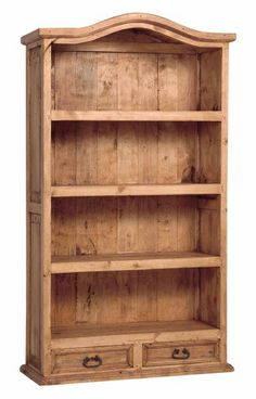 Rustic Country Pine Bookcase (DD)