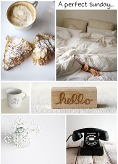Do you offer your guests some time to sleep late on a Sunday? Lazy Sunday Morning, Sunday Coffee, Collages, Have A Great Sunday, Days And Months, Friday Weekend, Happy Weekend, Relaxing Day, A Perfect Day