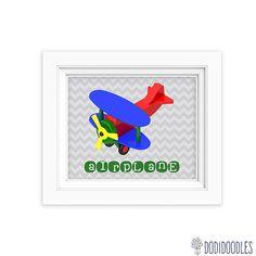 Nursery Art Print 8x10 Airplane Print by ScubamouseStudiosJr, $2.00