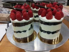 Yuyis' Cream and berries 'parfait' cakes.