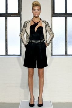 Catherine Malandrino | Spring 2013 Ready-to-Wear Collection...      ~ NOT really into the NECKLINE -though it is different  kind of interesting, to me...