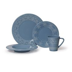 Buy Sutton Teal 4 Piece Place Setting online at Mikasa.com