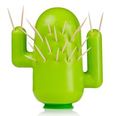 Cactus Toothpick Holder. i would prolly just sit and poke it all day long!!!