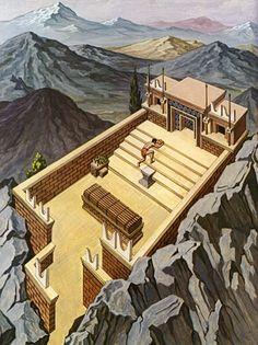 Reconstruction of a Minoan tripartite shrine.