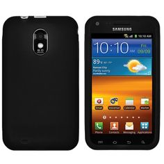Black Soft Gel Silicone Protective Skin Cover for Sprint Samsung Epic 4G Touch Samsung Galaxy S2 (Samsung Galaxy SII) Android Smartphone $8.99