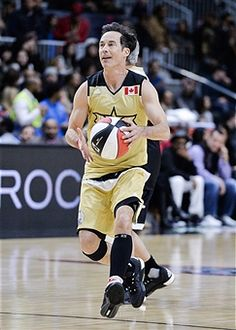 Actor Tom Cavanagh attends the 2016 NBA All-Star Celebrity Game at Ricoh Coliseum on February 2016 in Toronto, Canada. My Tom, Grant Gustin, Best Tv Shows, The Flash, Wells, Blue Eyes, All Star, Dc Comics, Toms