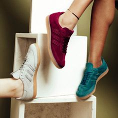 adidas Originals celebrate International Women's Day 2017 with the ADIDAS CONSORTIUM WOMEN'S SAMBA DEEP HUE pack.    Stoking the fires of a continued demand for female focused trainer styles, the three pack offering takes on an update of what is arguably one of the brand's most recognisable