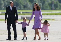 The royal family hit the airport in Germany to catch a private plane home to London, and it's clear something was already amiss with Charlotte.