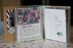December Daily album created by Carrie Cook using our teal SN@P! Binder