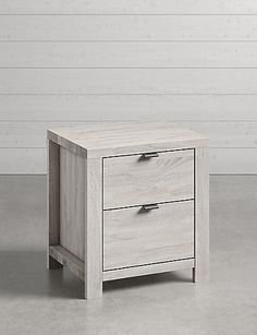 Buy the Arlo Bedside Table from Marks and Spencer's range. Grey Bed Frame, Wooden Bedside Table, Comfy Sofa, Chrome Handles, Modern Side Table, Home Comforts, Simple Bathroom, Home Furnishings, Clean Lines