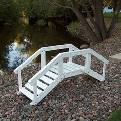 Prairie Leisure Design Decorative Garden Bridge with Posts and Rails