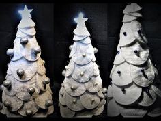 Ideas art for everyone, DIY - Joanna Wajdenfeld: Silvery Christmas tree with petals Christmas Crafts, Xmas, Christmas Tree, Christmas Ornaments, Baby Items, Homemade, Holiday Decor, Creative, Diy