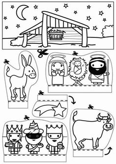 Christmas Art Project for kids - pop-up shoebox ideas Preschool Christmas, Christmas Nativity, Noel Christmas, Christmas Activities, Christmas Crafts For Kids, Xmas Crafts, Christmas Printables, Christmas Colors, Christmas Projects