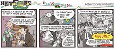 """Net To Be nr.290, dicembre 2002, in versione parodia de """"La Vita é Meravigliosa"""" (F. Capra 1946). Dodicesima e ultima puntata."""