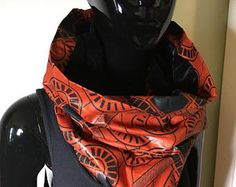 snood foulard infinity tube velours et wax #6-1 - Modifier une fiche produit - Etsy