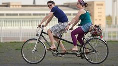 Couple on a tandem bicycle  #tandem #bicycle #bicycles