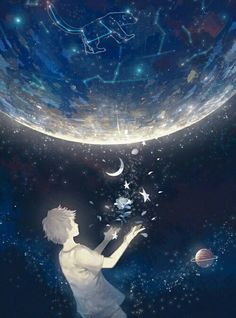 Find images and videos about boy, art and anime on We Heart It - the app to get lost in what you love. Art Anime Fille, Anime Art Girl, Anime Guys, Fantasy Kunst, Fantasy Art, Aesthetic Art, Aesthetic Anime, Anime Galaxy, Image Manga
