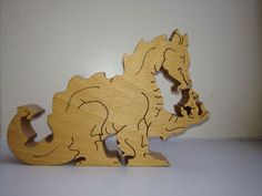 Wooden Jigsaw, Wooden Puzzles, Wooden Toys, Intarsia Woodworking, Woodworking Patterns, Laser Cutter Ideas, Intarsia Patterns, Wood Animal, Scroll Saw Patterns