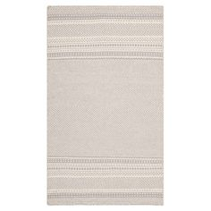 Handcrafted flatweave wool rug with grey striping.   Product: RugConstruction Material: WoolColor: Gre...